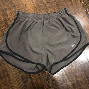 Grey and Black Nike Shorts